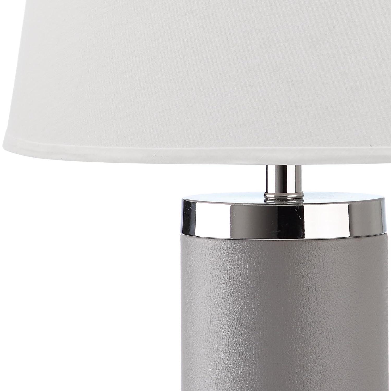 Amazon.com: Safavieh Lighting Collection Leather Column Grey 26 Inch Table  Lamp (Set Of 2): Home U0026 Kitchen
