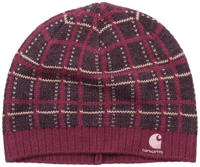 ed9472de680ac7 Carhartt Women's Winterfield Knit Hat, Raspberry, One Size at Amazon ...