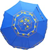 CLOUDNINE 6 FT TRAVEL BEACH UMBRELLA DOUBLE CANOPY WIND BUSTER (BLUE SUN)