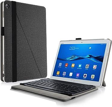 INFILAND Huawei Mediapad M3 Lite 10 Teclado Funda, Ultra Fino Slim Keyboard Case con Magnético Desmontable Teclado Bluetooth Inalámbrico para Huawei ...