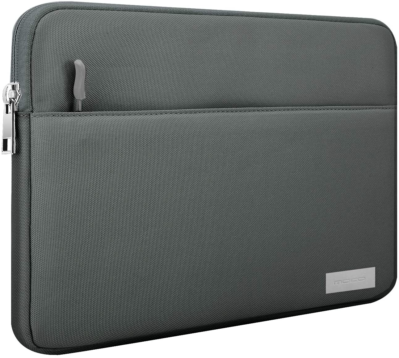"MoKo Laptop Sleeve Case Fits 12.3 Inch Surface Pro 7/6/5/4/3, Surface Pro LTE 12.3"", Surface Pro X, MacBook Air 11.6"" Zipper Polyester Bag with Pocket, Fit Surface Pro Type Cover and Pen - Dark Gray"