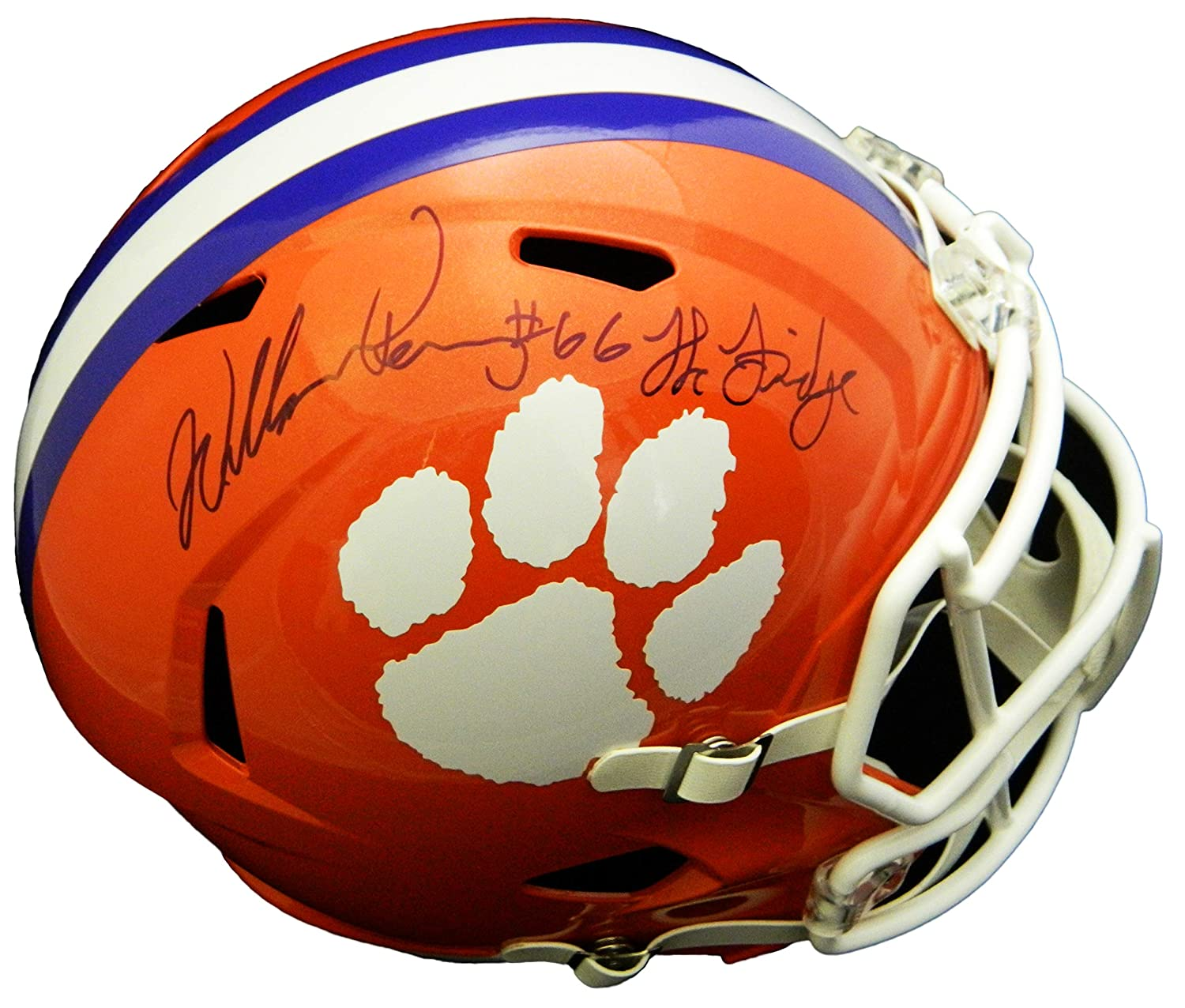 William Perry Signed Clemson Tigers Riddell Full Size Speed Replica Helmet w/The Fridge