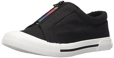 1347acf07d9ab9 Rocket Dog Women s Joanel 8a Canvas Cotton Rainbow Zip Fashion Sneaker  Black 7 ...