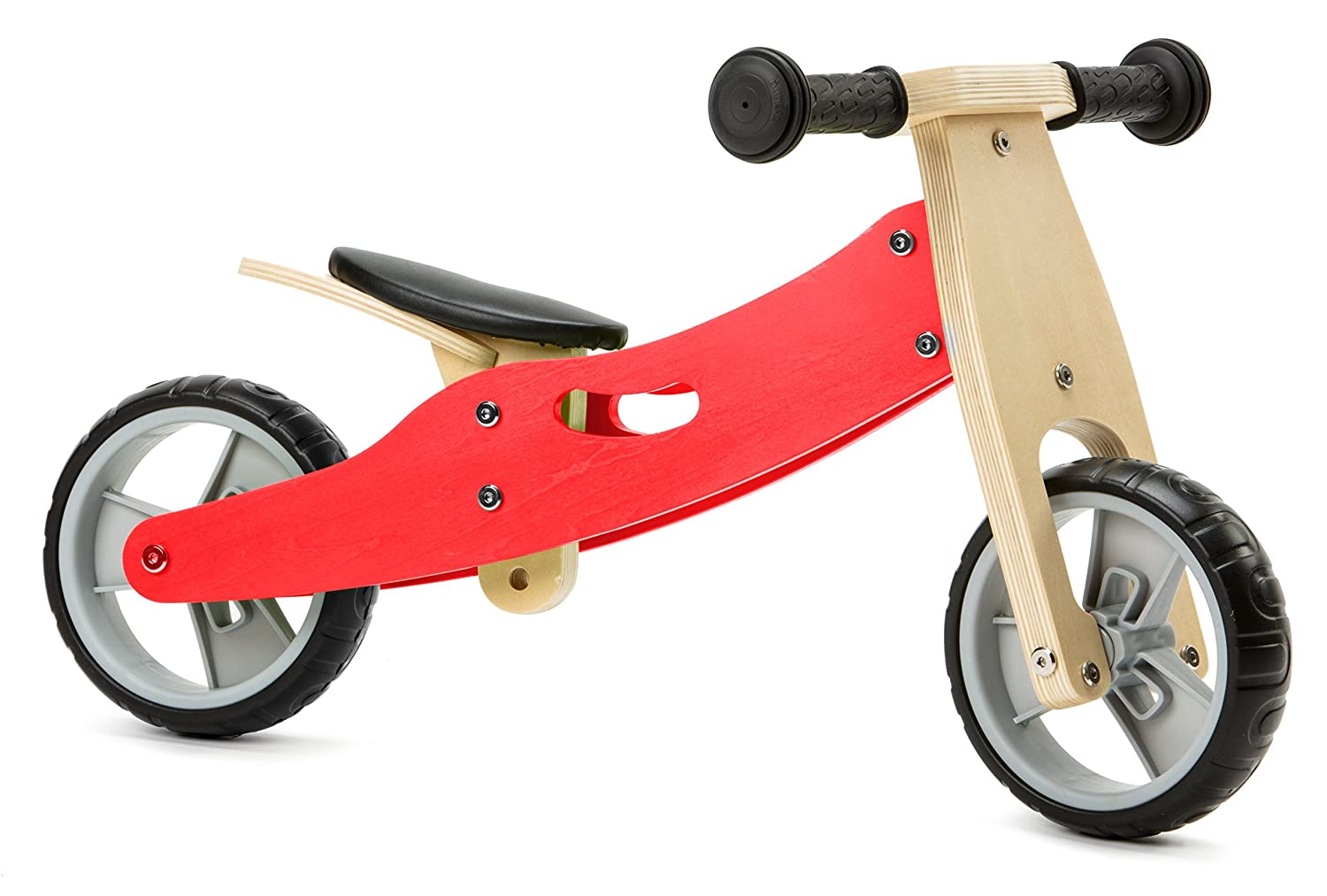 Nicko Mini Wooden Balance Toddler Bikes Trikes 18 Months 3 Years Old 2 In 1 Red