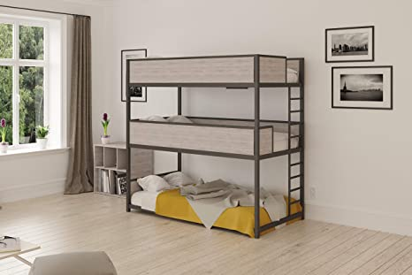 reputable site a1016 773d9 Heavy Duty Triple Bunk Bed