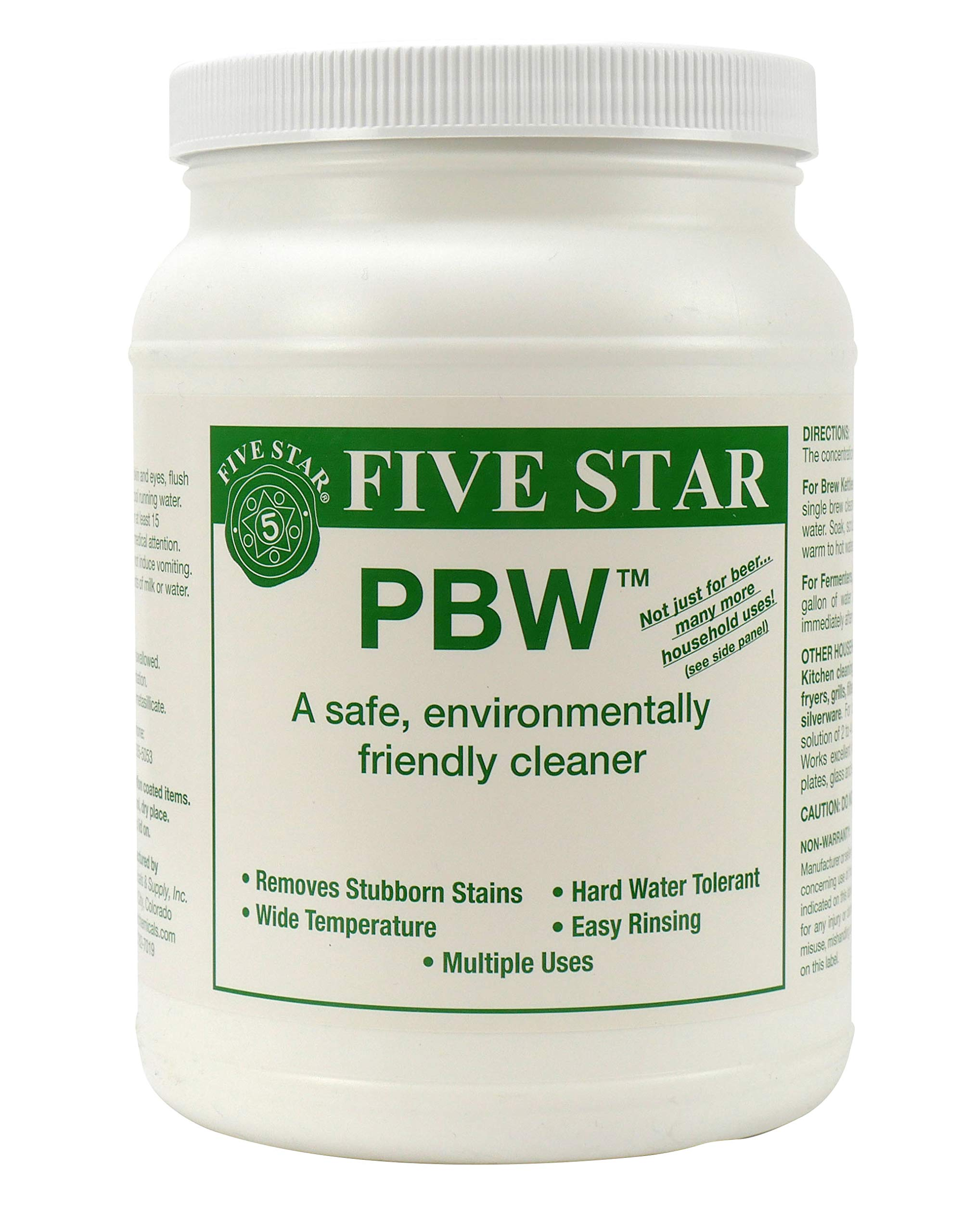 Five Star PBW Cleaner (Powdered Brewery Wash), 4-Pound Jar by Five Star