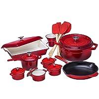 Deals on Bruntmor 21 Piece Enameled Cast Iron Cookware Set