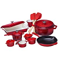 Deals on Bruntmor Enamaeld Cast Iron Cookware On Sale from $22.48