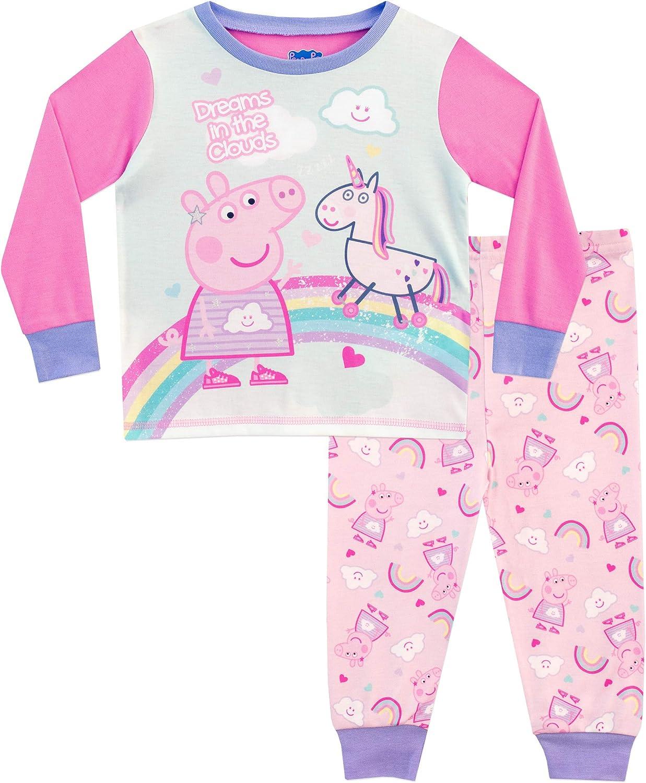 Peppa Wutz M/ädchen Schlafanzug Packung mit 2