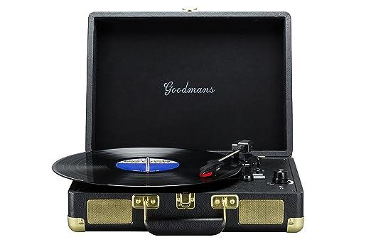 Goodmans Ealing - Maleta portátil con Tocadiscos, Color Negro ...