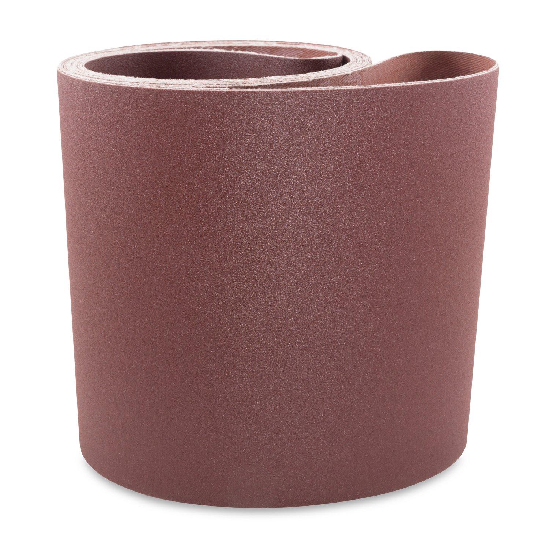 6 X 108 Inch 150 Grit Aluminum Oxide Multipurpose Sanding Belts, 2 Pack