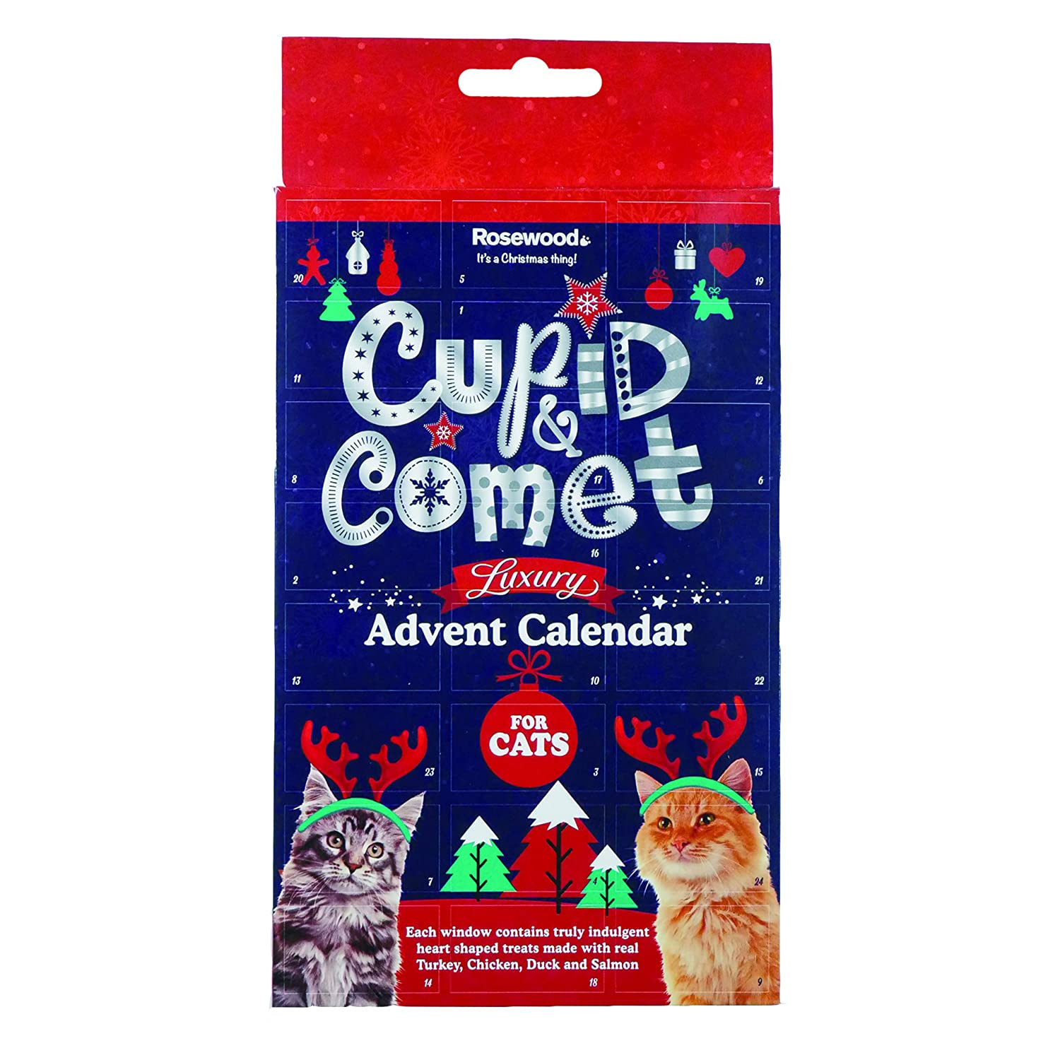 Luxury Advent Calendar for Cats Rosewood 90495