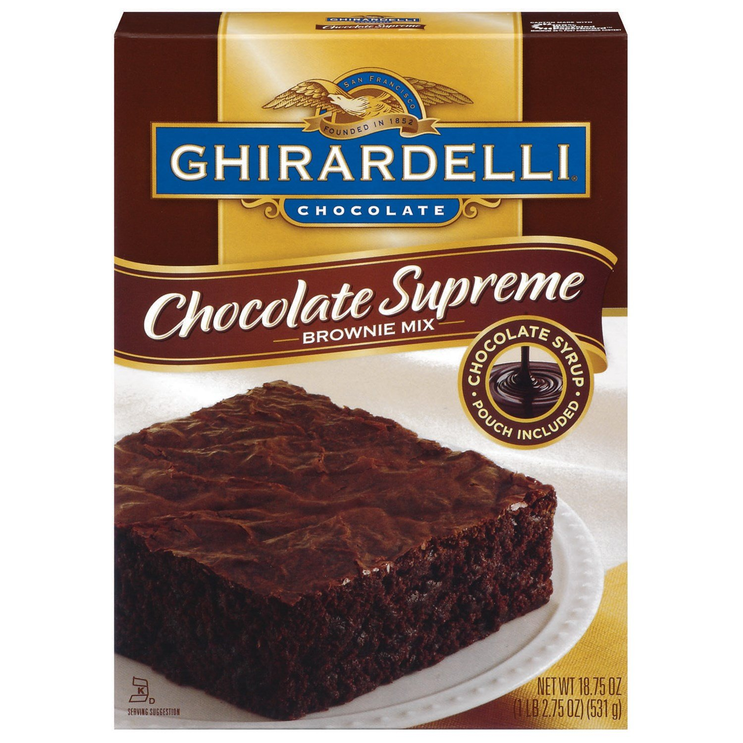 Ghirardelli Brownie Mix Syrup 18.75 OZ (Pack of 24) by Ghirardelli (Image #1)