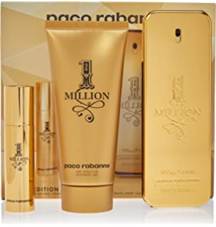 Amazon.com : Paco Rabanne 1 Million Gift Set for Men, 3.4 ...