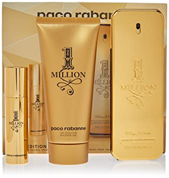 Amazoncom Paco Rabanne One Million Men 3 Piece Set Beauty