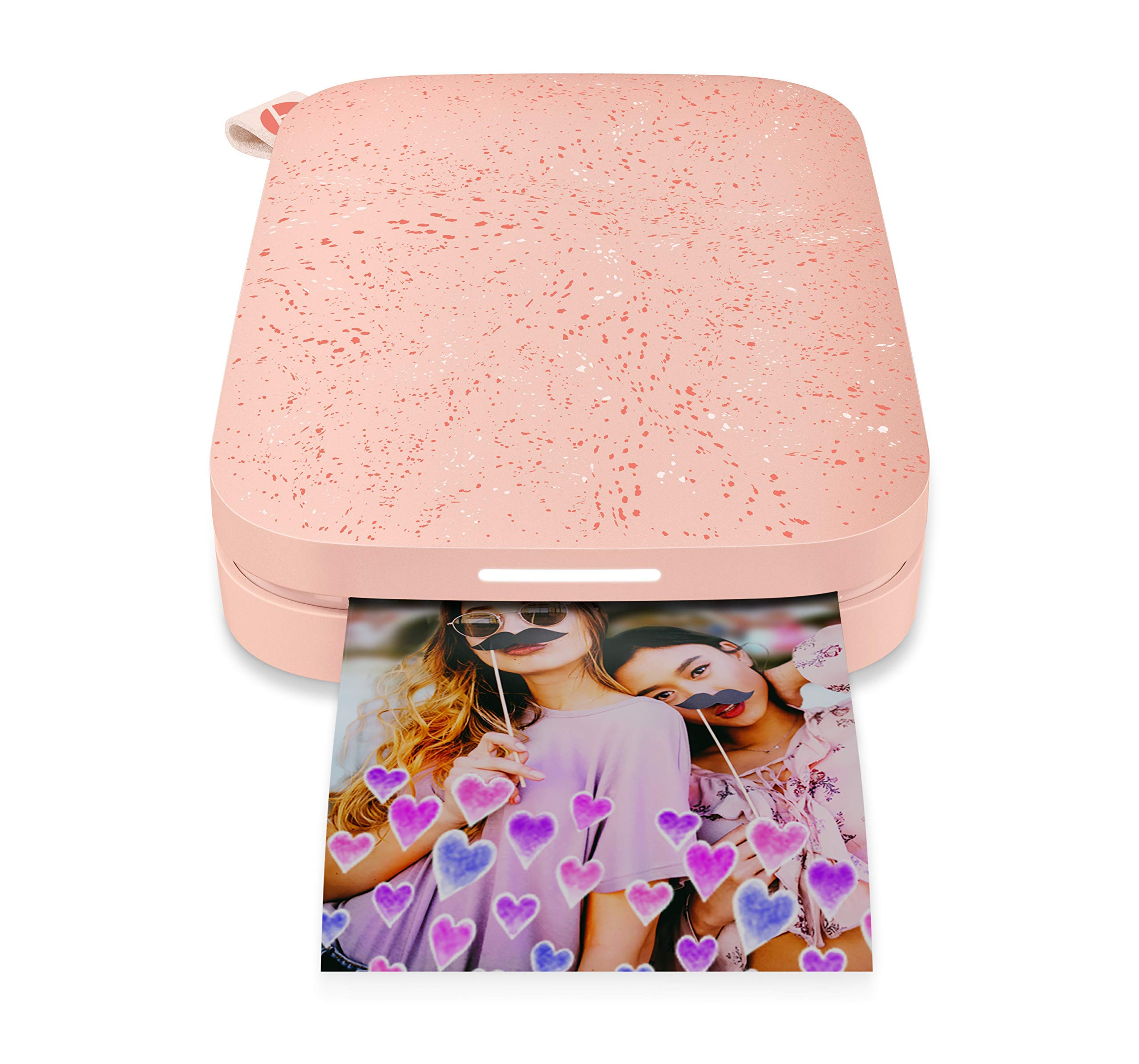 HP Sprocket Portable Photo Printer (2nd Edition) - Instantly Print 2x3 Sticky-Backed Photos from Your Phone - [Blush] [1AS89A] (Renewed) by HP