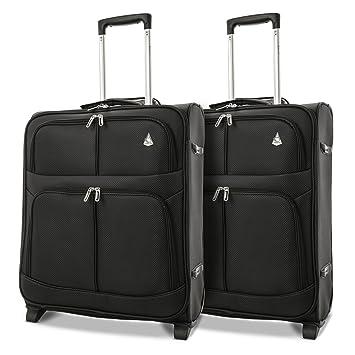 Aerolite 56x45x25 Tamaño Máximo de Easyjet, Iberia, Jet2 y British Airways 60L Trolley Maleta Equipaje de mano cabina ligera con 2 ruedas, ...