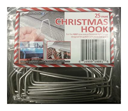 Christmas Light Holders Gutters.Amazon Com Christmas Hook Christmas Light Hanger For