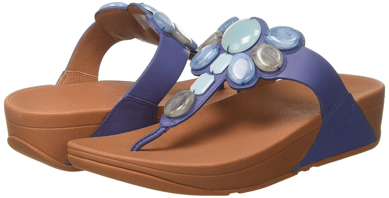 FitFlop Blau Damen Honeybee Toe-Thong Zehentrenner, Schwarz Türkis (Indian Blau FitFlop 538) 53a067