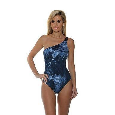 5c4a8f6034 Magicsuit by Miraclesuit Women s Storm Front Alex One Shoulder One Piece  Swimsuit (Deep Sea Blue