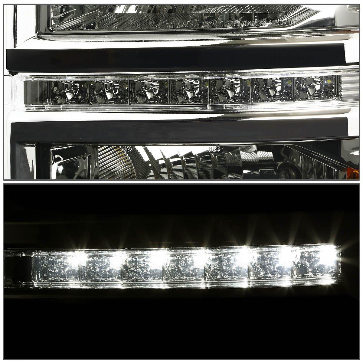 DNA Motoring HL-OH-C10-SM Headlight Assembly Driver /& Passenger Side