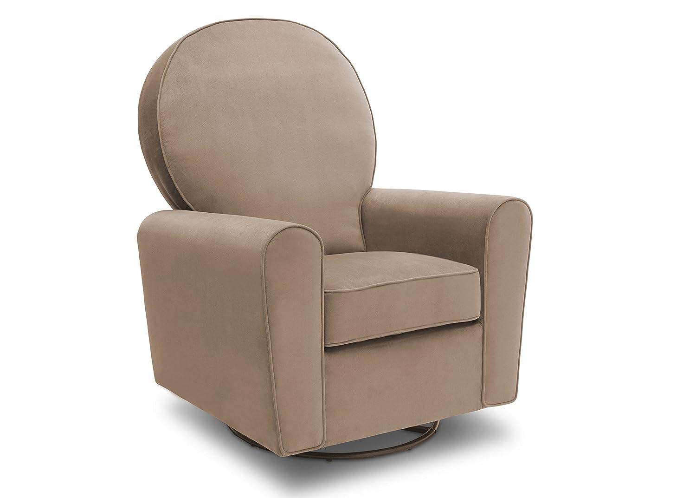 Fabulous Delta Children Barcelona Upholstered Glider Swivel Rocker Chair Toast Velvet Creativecarmelina Interior Chair Design Creativecarmelinacom