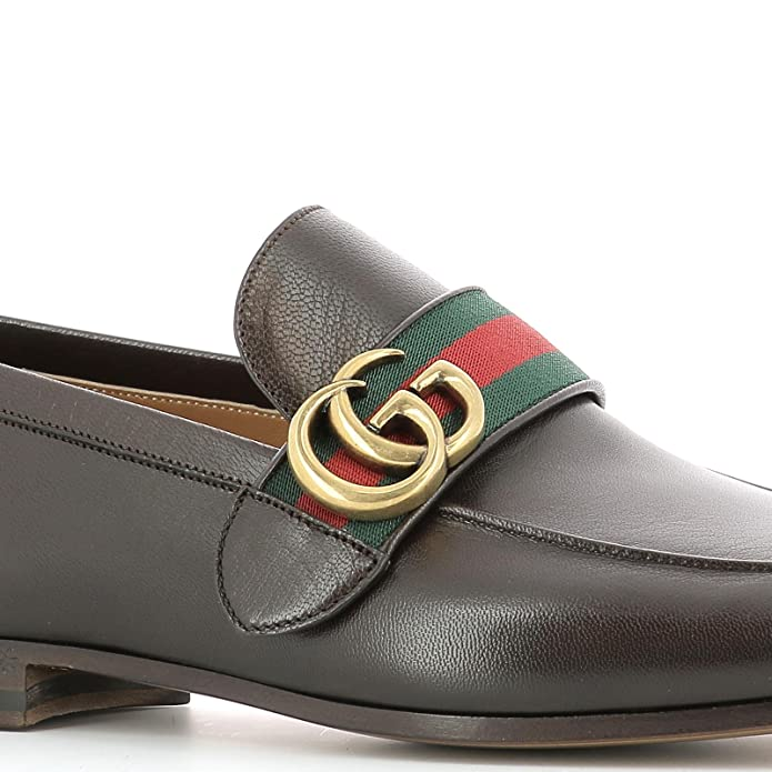 Gucci - Mocasines Hombre, marrón (marrón), 39 IT - Taille Fabricant 5: Amazon.es: Zapatos y complementos