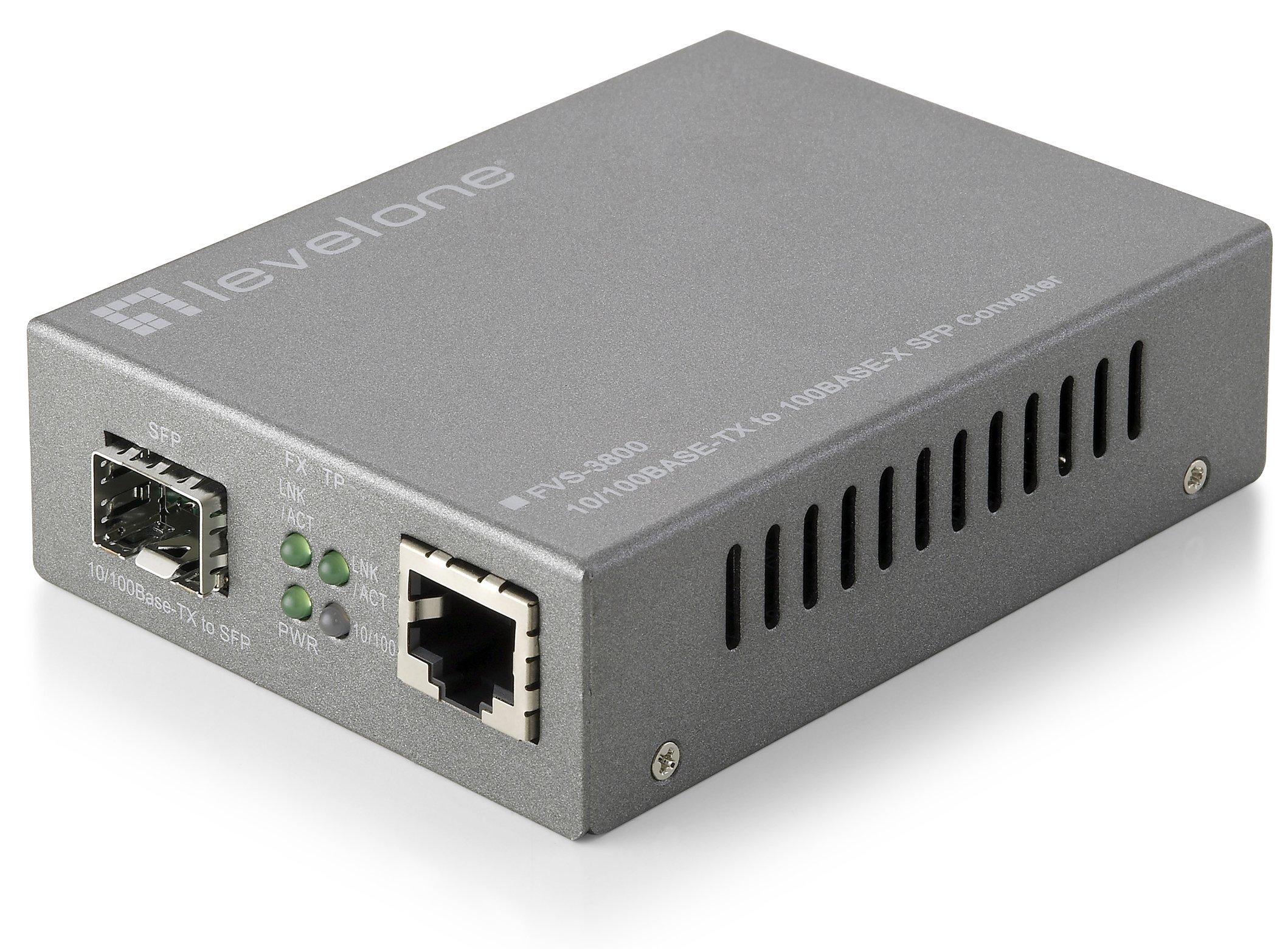 CP Technologies Web Smart 10/100 Based TX to 100X SFP Media Converter (FVS-3800)