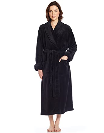 b2cb4ce7c8 Leveret Women s Robe Soft Micro Fleece Plush Shawl Collar Bathrobe ...