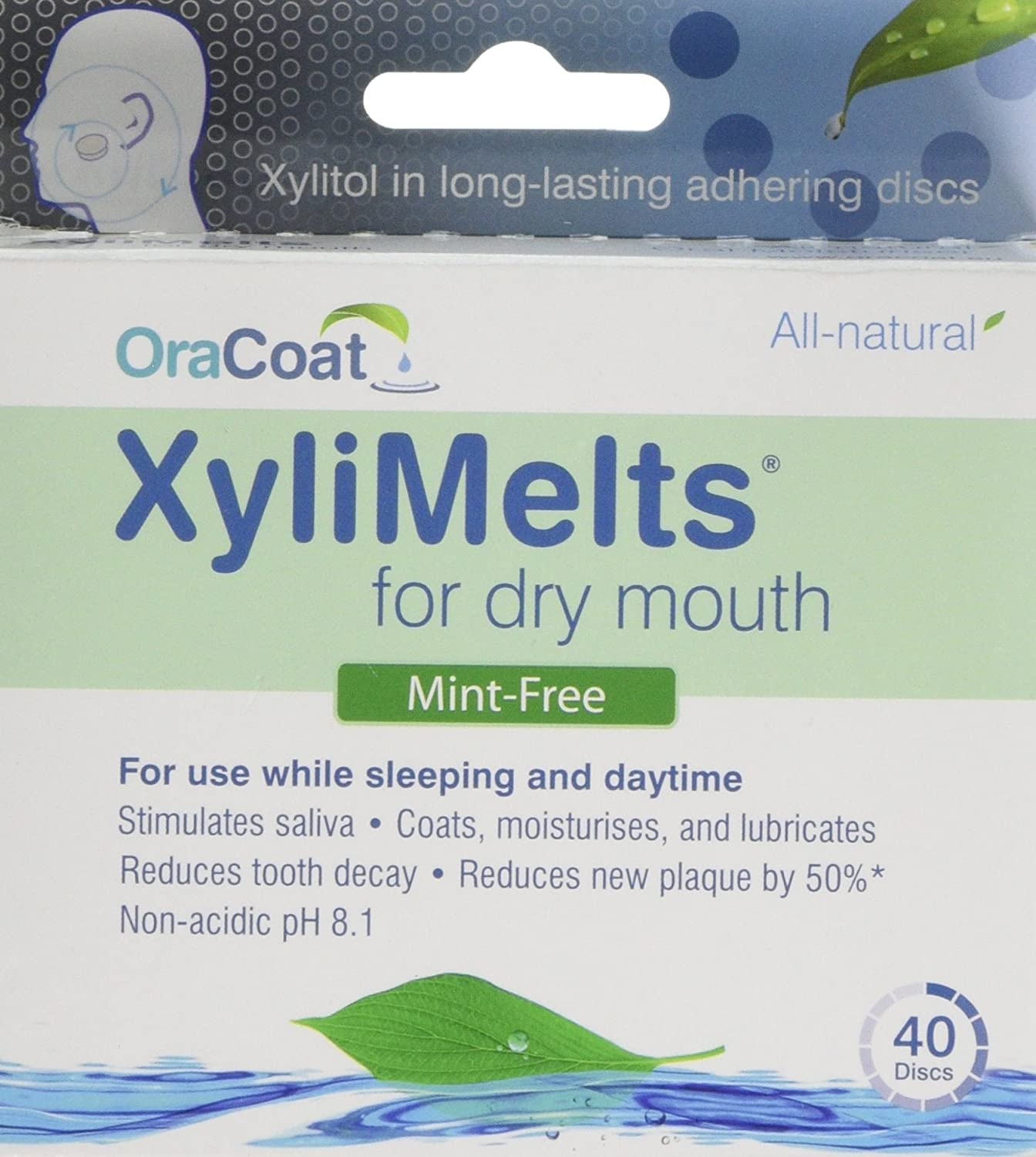 XyliMelts for Dry Mouth, Mint-Free, 80-Count Box Orahealth 2-40-UK