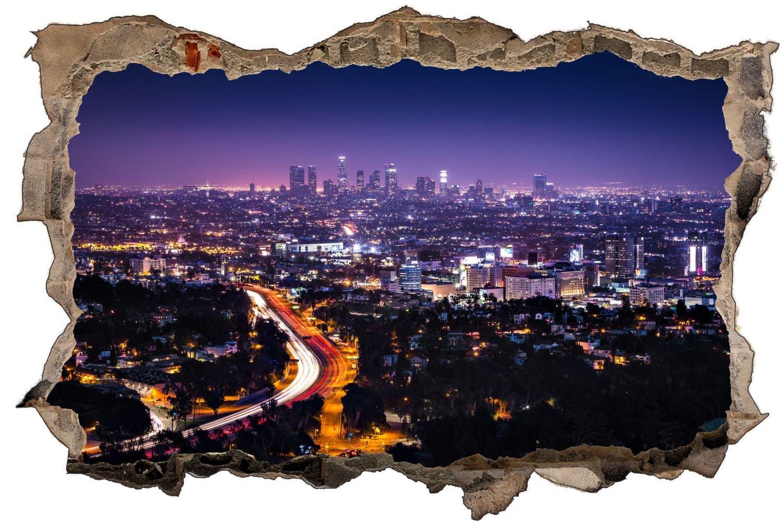 Los Angeles Skyline Abends Wandtattoo Wandsticker Wandaufkleber D0892 Größe 120 cm x 180 cm