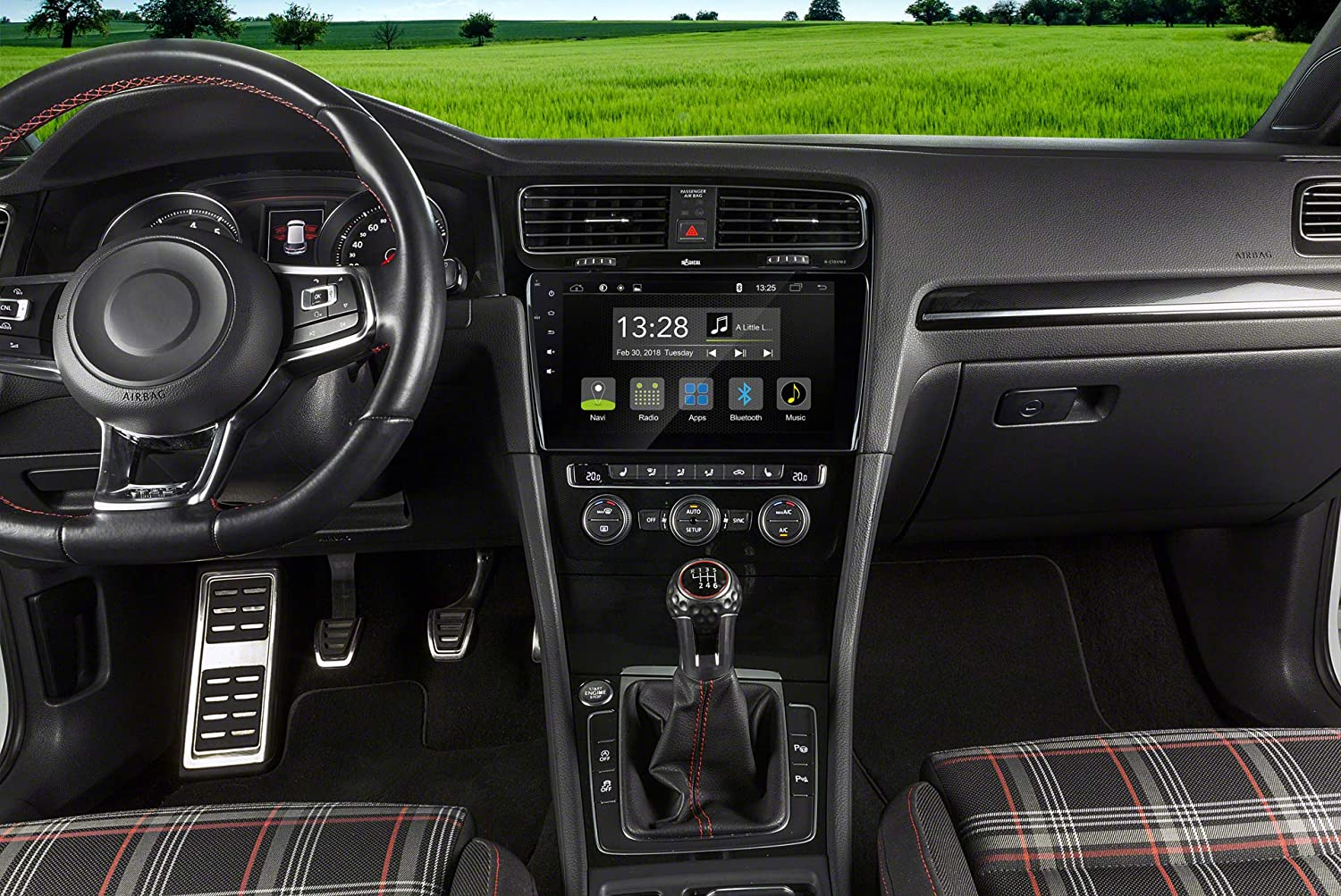 "Autoradio f/ür VW Golf5+6 mit 7.1 Android OS Unterst/ützt OPS Klimastatus Lenkradfernbedienung FM Radio Bluetooth USB EasyConnect Radical R-C10VW1 mit 9/"" Touchscreen vorbereitet f/ür Navigation"