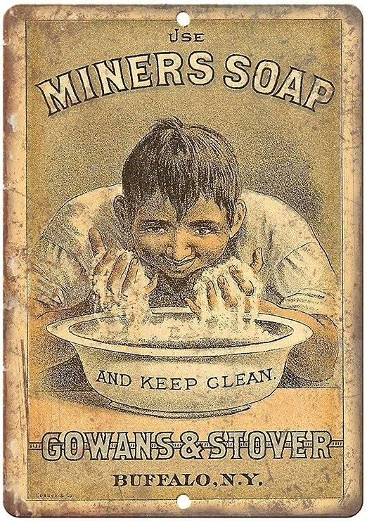 Miners Soap Gowans & Stover Vintage Placa Vintage Metal ...