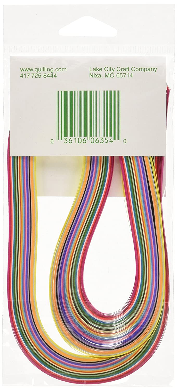 LAKE CITY CRAFT Quilling Paper 1//8-Inch 100-Pack 25 Colors