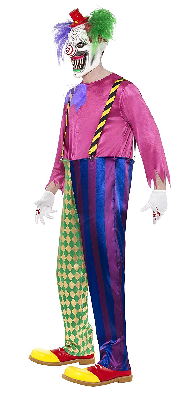 Smiffys Mens Colorful Killer Clown Costume