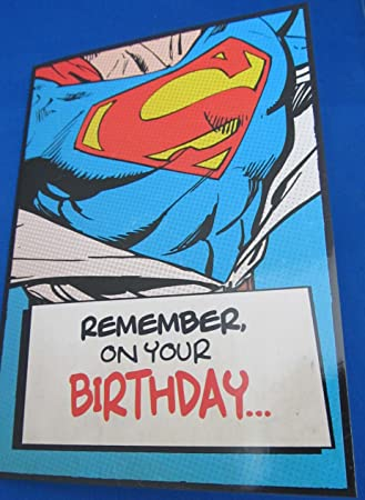 The superman birthday card amazon toys games the superman birthday card bookmarktalkfo Image collections