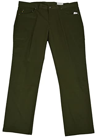 7c5a1b11df Brooks Brothers Mens Cotton Canvas Slim Fit Stretch Green Jeans (40x32)