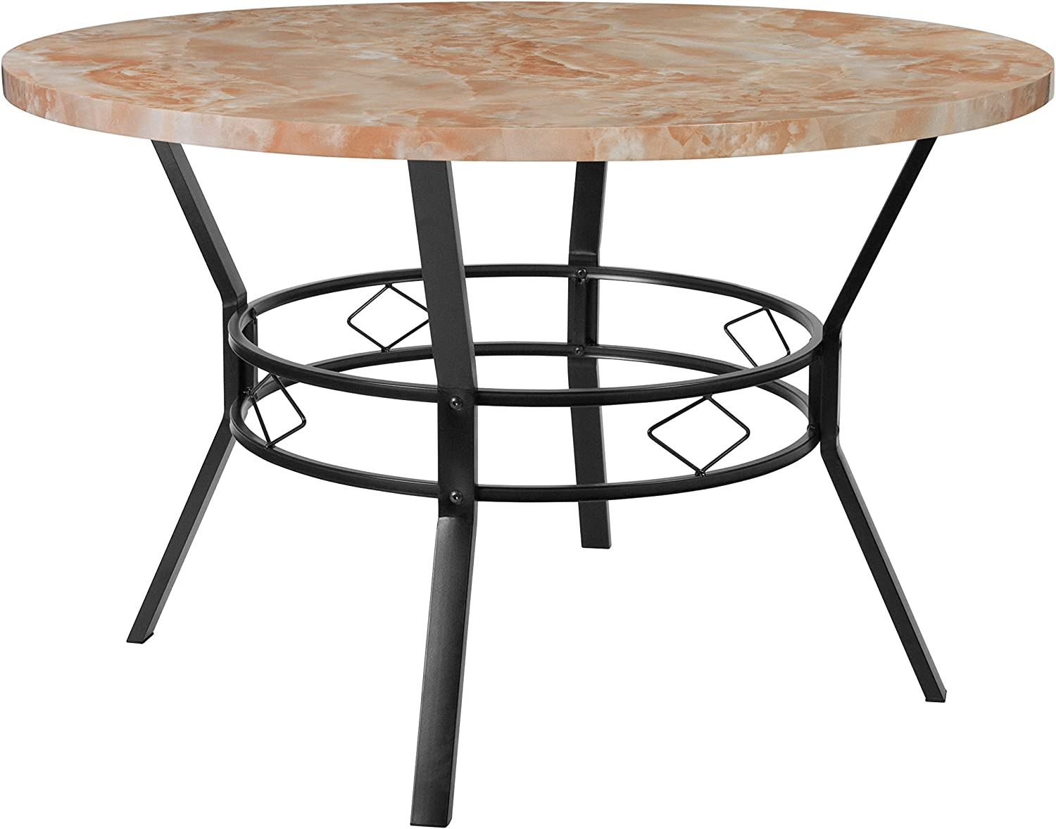 Flash Furniture Quartz Marble-Like Dinette Tables, 47 in. in,