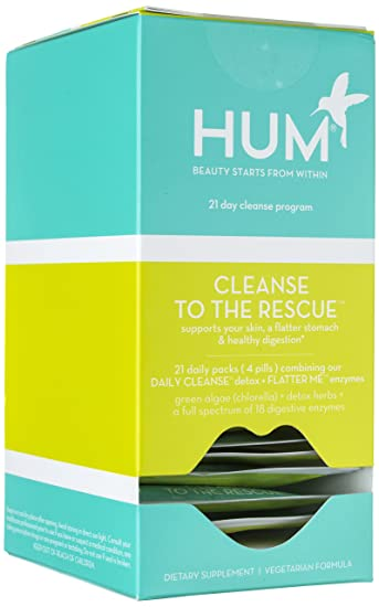 HUM Nutrition - Cleanse to the Rescue - 21-Day Detox Support, 21 Packets
