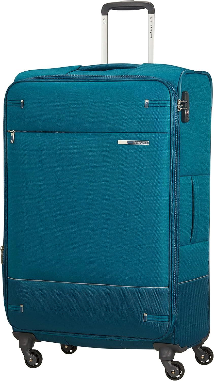 Samsonite Base Boost - Spinner L Expandible Maleta, 78 cm, 105/112.5 L, Azul (Petrol Blue)