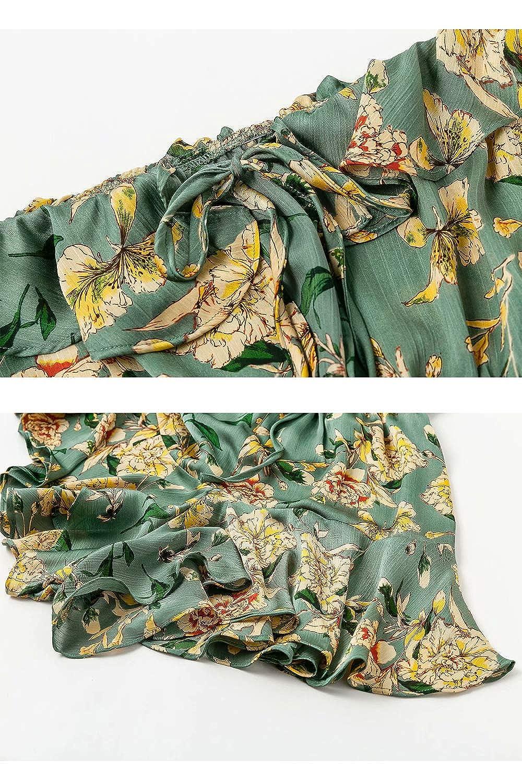 Womens Summer Floral Off The Shoulder Sleeveless Romper Jumpsuit