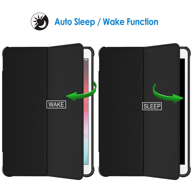 JETech H/ülle f/ür iPad Air 10.5 Doppelfalzst/änder mit sto/ßsicherer TPU R/ückseite 3. Generation 2019 Schwarz und iPad Pro 10.5 2017 Auto Schlafen//Wachen