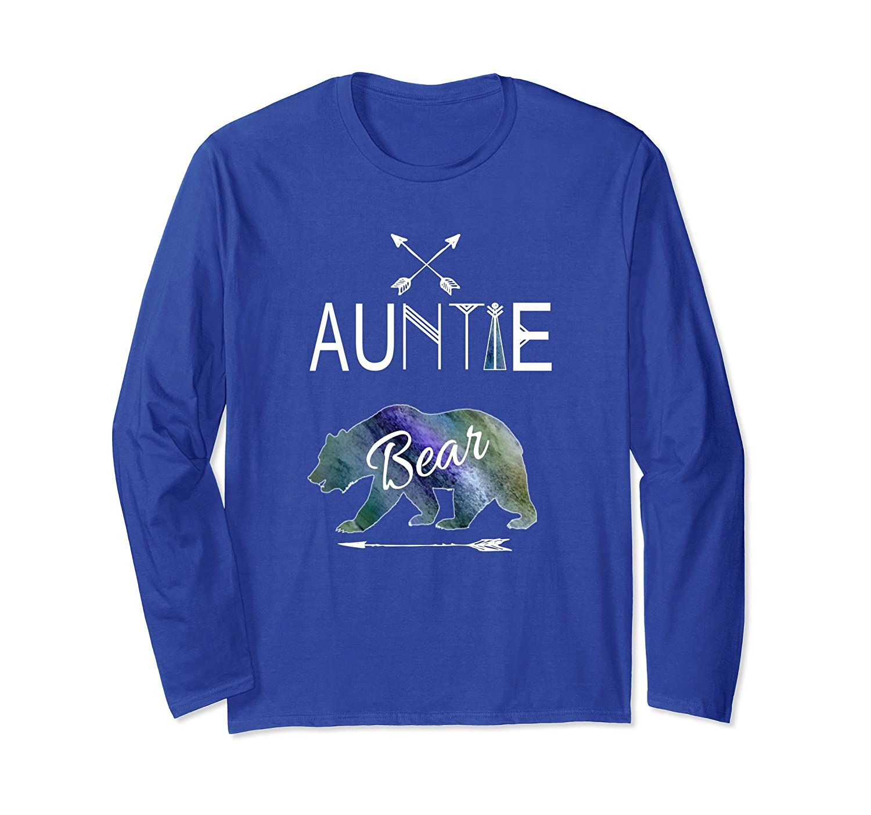 Auntie Bear Longsleeve Shirt Family Vacation & Camping-AZP