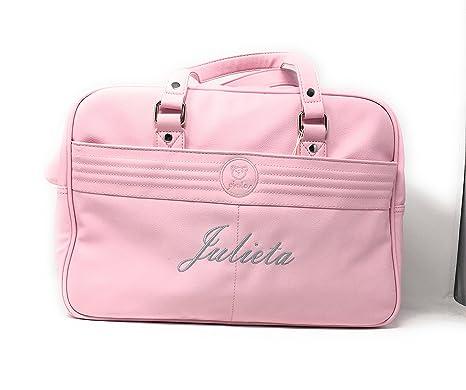 Bolso maternal Polipiel carrito bebe personalizado Danielstore (nombre a elegir)  Color rosa