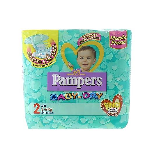 31 opinioni per Pampers Baby Dry Pannolini Mini, Taglia 2 (3-6 Kg), 24 Pezzi