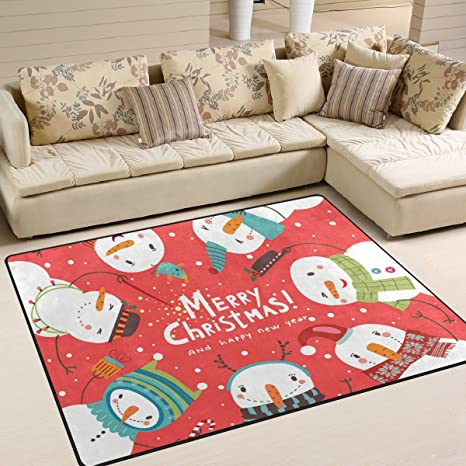 Amazon Com Alaza Soft Indoor Modern Christmas Snowmenarea