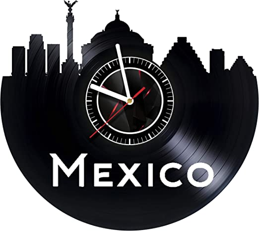 Amazon Com Svitshop Mexico Wall Clock Made Of Vinyl Record Handmade Unique Design Incredible Gift Idea For Christmas Birthday Women Men Boyfriend Girlfriend Teens Friends Country Home Kitchen