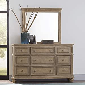 Liberty Furniture Industries Laurels Dresser & Mirror, Brown