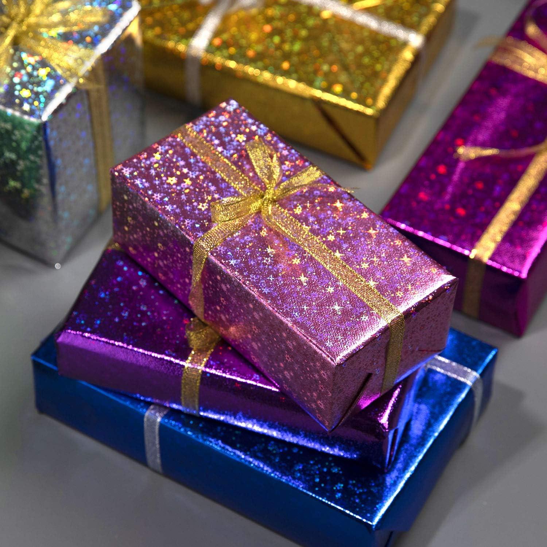 74x52cm Baby Shower San Valent/ín 8 Hojas Papel para Envolver Regalos y 2 Cinta de Organza Papel Embalar Colorido para Cumplea/ños Jolintek Color Arco/íris de Papel Regalo Papel de Regalo Navidad