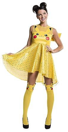2abe2e635 Rubie's Costume Co Women's Pokemon Pikachu Costume Dress, Yellow, ...